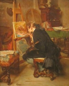A_Painter,_oil_on_mahogany_painting_by_Ernest_Meissonier,_1855